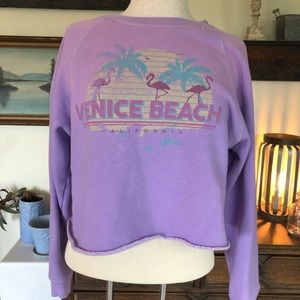 Forever 21 Venice Beach Cropped Sweat Shirt